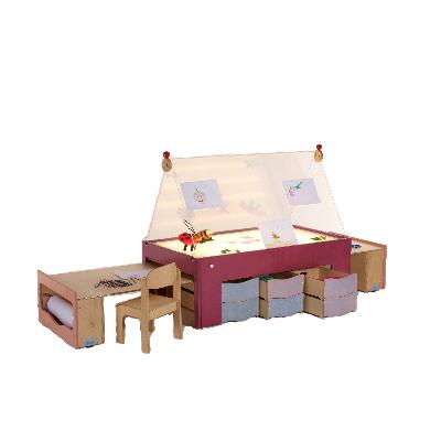 tavolo-luminoso-creatività-scuola d'infanzia-Merlino